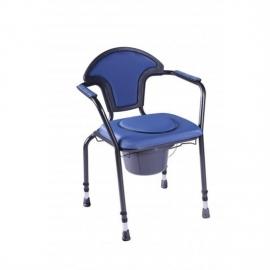 Silla WC | Altura regulable | Portátil | Azul