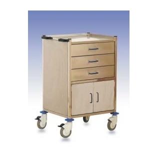 Carro hospitalario 3 cajones y armario