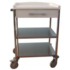 Carro hospitalario | 1 cajón superior 110mm y estante intermedio | marrón | Mobiclinic