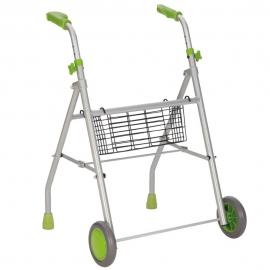 Andador ligero | Aluminio | Regulable en Altura | Verde