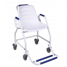 Silla de ducha con ruedas | Reposapies plegables