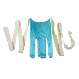 Calzador de calcetines Terry | Blanco y azul | Mobiclinic