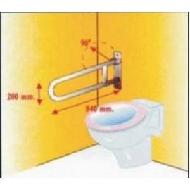 Barra asidero soporte seguridad abatible, a.inox