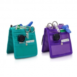 Pack 2 salvabolsillos enfermera para bata o pijama | Morado y verde | Keen's | Elite Bags