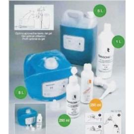 Pack gel conductor para ultrasonidos | Garrafa de 5 litros | 4 unidades | Azul