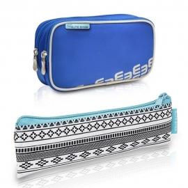 Pack bolsa isotérmica y estuche | Color azul | Poliéster y fibra de carbono | Dia's e Insulin's | Elite Bags