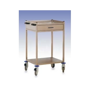 Carro hospitalario 1 cajón superior | acero inox.