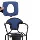 Silla WC | Portátil | Reposabrazos | Acero | Azul - Foto 1