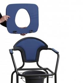 Silla WC | Portátil | Reposabrazos | Acero | Azul