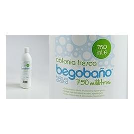 Colonia fresca BEGOBAÑO 750 ml para higiene diaria corporal