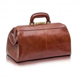 Maletín para visitas médicas | CLASSY'S | De piel marrón | Elite Bags