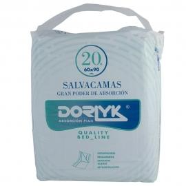 Empapador desechable | Testado dermatológicamente | Impermeable y absorbente | 20 uds. | Blanco | Dorlyk