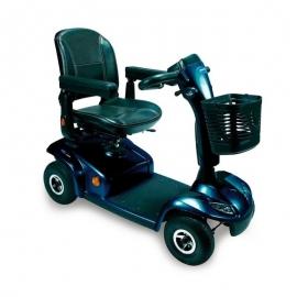 Scooter eléctrico | Leo | Ivancare | 4 ruedas neumáticas | Color azul brillante