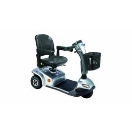 Scooter eléctrico con 3 ruedas neumáticas   Color plata   Mod. Leo   Invacare
