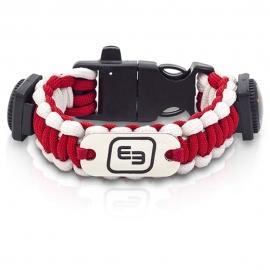 Brazalete de supervivencia   Con aplicaciones de emergencias   Fluorescente   Rojo y blanco   Wrist's   Elite Bags