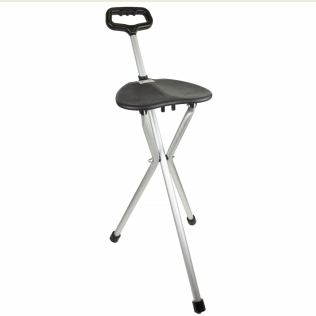 Bastón con asiento   Plegable   Aluminio