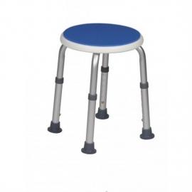 Taburete para baño | Hasta 100 kg | Forma redonda | Azul