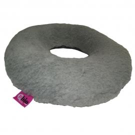 Cojín antiescaras Sanitized con agujero y forma redonda, color gris 44x11cm
