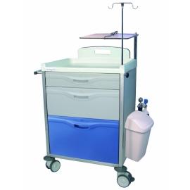 Carro hospitalario 3 cajones, pequeño, mediano y grande con accesorios.