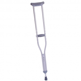 Muleta axilar metálica de aluminio infantil | Regulable en altura 90-110 cm | 1 unidad