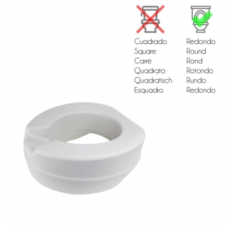 Elevador WC | Altura 11 cm| Blando | Sin tapa