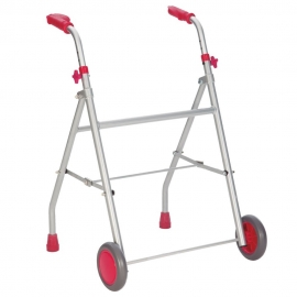 Andador ligero | Aluminio | Regulable en Altura | Rosa