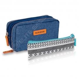 Pack bolsa isotérmica y estuche | Vaquero y estampado indie | Poliéster y fibra de carbono | Dia's e Insuli's | Elite Bags