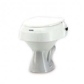 Elevador de inodoro | Altura regulable | 6,10 y 15cm | Con tapa | Invacare