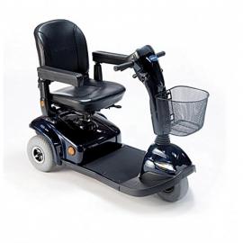 Scooter eléctrico con 3 ruedas neumáticas | Color azul brillante | Mod. Leo | Invacare