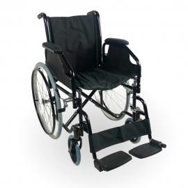 Silla de ruedas | Plegable | Ruedas grandes | Acero | Ortopédica | Ligera | Negro | Catedral | Mobiclinic