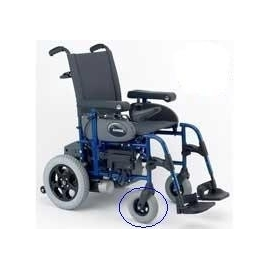 Rueda maciza delantera | silla eléctrica Powertec F35