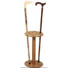 Expositor para bastones de 12 unidades | Madera | 50 cm altura