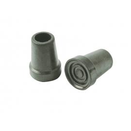 Contera de goma gris | Para bastón | 19 mm
