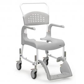 Silla para ducha| Con inodoro | Con ruedas | Altura asiento 55 cm | CLEAN