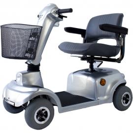 Scooter eléctrico 4 ruedas | Auton. 34 km | Asiento giratorio y plegable | 12V | Gris | Piscis | Mobiclinic