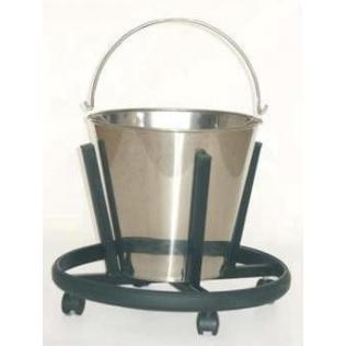 Cubo de quirófano | acero esmaltado | 12 litros