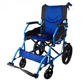 Silla de ruedas   Plegable   Aluminio   Frenos en manetas   Azul   Pirámide   Mobiclinic