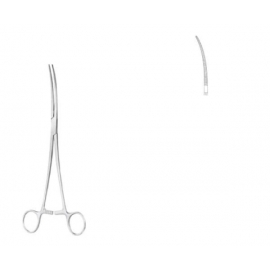 Crafoord pinza bronquial curva 24,0 cm