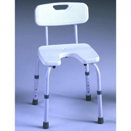 Silla de baño con asiento en U | Regulable | Blanca | Samba