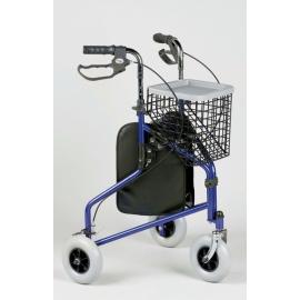 Caminador de tres ruedas | Plegable | Altura regulable | Delta