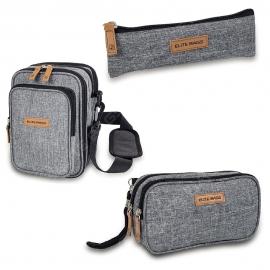 Lote estuche, bolsa y bandolera | Estampado bitono | Todo tipo de productos | Insulin's, Dia's y Fit's Evo | Elite Bags