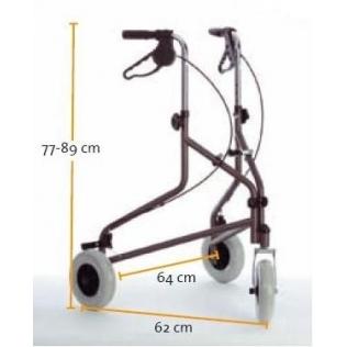 Andador caminador rollator plegable de 3 ruedas