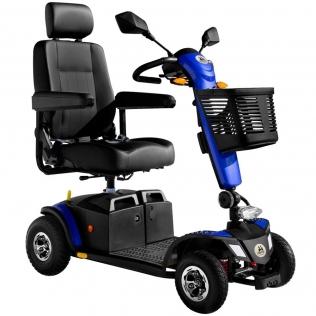 Scooter para ancianos de 4 ruedas neumáticas | Desmontable y transportable | Suspensión integral | Dolce Vita | Azul