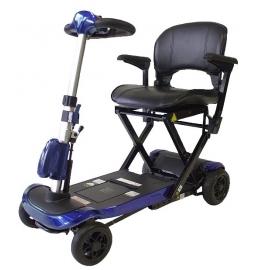 Scooter eléctrico minusválido | Auton. 15Km | Plegado automático con mando | 24V | Azul | Ulises | Mobiclinic