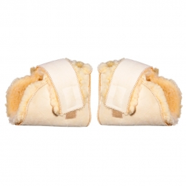 Pack de par de patucos antiescaras   Premium Lambskin   Lana natural