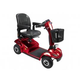 Scooter para minusválidos | Eléctrico | 4 ruedas neumáticas | Color rojo | Leo | Invacare