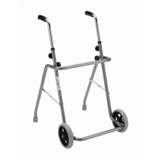 Andador de acero | plegable | pintado con ruedas