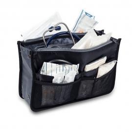 Bolso asistencia domiciliaria | Organizadores internos | Negro | Tote | Elite Bags