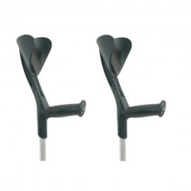 Muletas negras de aluminio | 2 unidades | Aluminio | Evolution