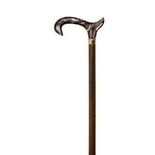 Muletilla bastón con puño de metacrilato marrón